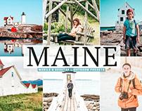 Free Maine Mobile & Desktop Lightroom Presets