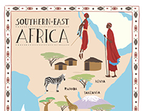 Africa map for TripScaper