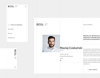 BCGL // Website