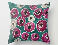 Textile Design- Ruby Flower Print