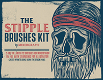 The Stipple Brushes Kit for Photoshop and Illustrator