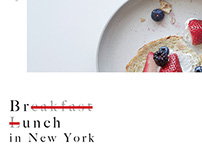 Book Project: Brunch in New York
