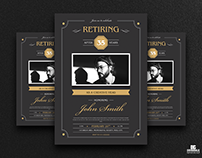 Free Retirement Invitation Flyer Template