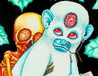 Baby skeleton & monkey specter