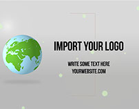 Elegant Earth Logo - Free After Effects Project File