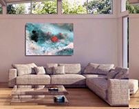 Organic Abstract Art Underwater