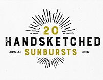 20 Handsketched Sunbursts