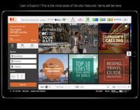 IHG.com Web/App Homepage Concept
