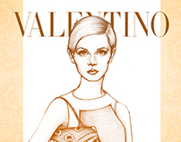 Twiggy with Valentino Mime Bag