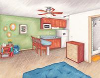 Foundation Communities Interior Illustration