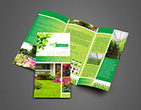 Tri-Fold Brochure Design for BioOrganica Greenhouses.