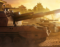 Armored Warfare - Chinese trio sunset promo