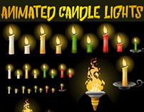 Animated candle lights