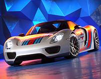 Porsche 918 - Full CGI