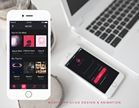 MUSIC APP UI/UX Design & Animation