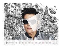 Lee ByungHun 2015 Calendar Illustration Japan Ver.