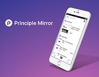Principle Mirror App Redesign