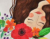 Watercolor | Maria vai c'as flores.