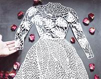 Paper cut lace dress