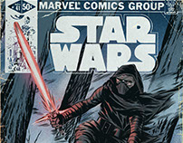 Kylo Ren, Vintage Marvel Comics Style + Process Video