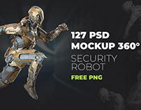 PSD - 3D Mockup 360 Security Robots