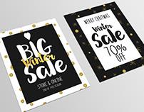 Set of Christmas Sale Banners