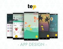 Tep - App design (2015)