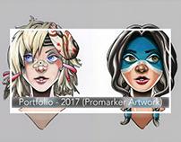 Portfolio: 2017 Illustration (Promarker Portraits)