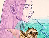 Girl and Sloth