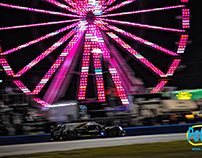 2019 ROLEX 24 AT DAYTONA, P2 CLASS AT NIGHT.