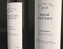 Marcellin Caillou & René Rateau 2015 - Wine Labels