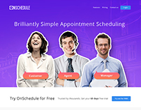 Scheduling Website Mockup