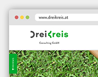 DreiKreis/ corporate identity and responsive website