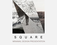 Square Minimal Powerpoint Template