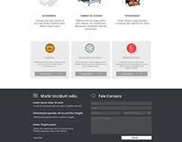 Criação de layout para site - TopTaylor
