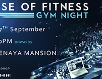 House of Fitness : Gym Night Ticket Design