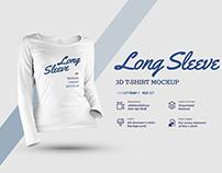 8 LongSleeve T-Shirt Mockup (1 free) by DECEMBER.DSGN