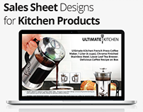 Sales Sheet Design for Kitchen Product by Swan Media