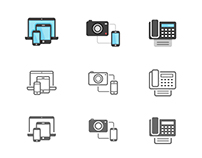 POPICON: 131 Technology & Telecommunication Icons