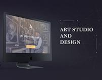 Landing page of Art Studio And Design