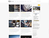 Blog Masonry Right Sidebar - Education WordPress Theme