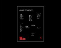 Award Deadlines Calendar - BBDO