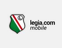 Legia.com mobile app concept