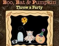 Boo, Bat & Pumpkin Throw a Party - Picture Book