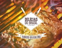 Branding Delicias do Brasil.