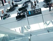 Budapest Airport Terminal 2 _ signage & wayfinding