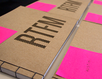 A portfolio book of work from frog design's Seattle stu