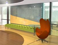 3D interior lobby rendering