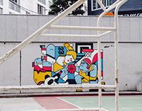 Street art Jangjeon-dong, Busan, korea