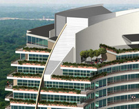 3D renderings (5) of high rise condo building
